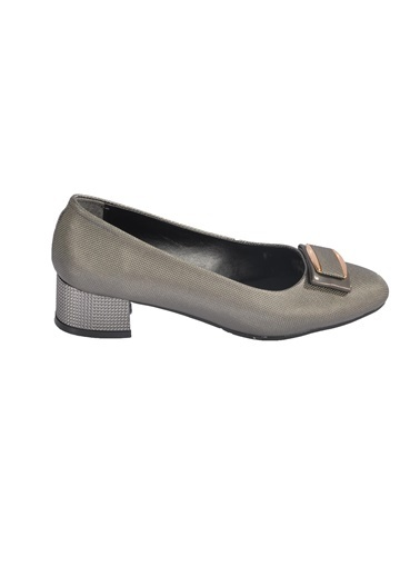 Maje 6032 Siyah Sultan Kadın Topuklu Ayakkabı Gümüş